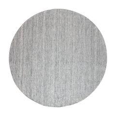 Vloerkleed Gerecycled Materiaal Rond Ciro Grijs -180 Ø - (L)