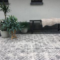 Buiten vloerkleed Frost - Grijs/Wit -  dubbelzijdig - EVA Interior