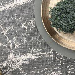 Buiten Vloerkleed Modern Marble - Grijs/Wit - EVA Interior