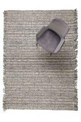 Wollen Vloerkleed Frills Grijs/Blauw - Zuiver - 170 x 240cm