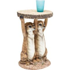 Kare Design Bijzettafel Animal Meerkat Sisters dia:33cm