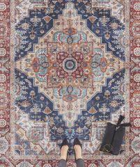 Vintage Vloerkleed Asmar indigo-Blauw 104017 Nouristan