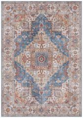 Vintage Vloerkleed Asmar jeans Blauw 104014 Nouristan