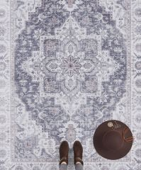 Vintage Vloerkleed Asmar mauve-Roze 104003 Nouristan
