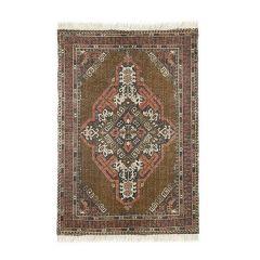 HK living vloerkleed printed cotton/jute rug stonewashed