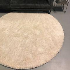Shaggy Hoogpolig rond vloerkleed Wit Albenga 71- Interieur05