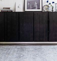 Vintage Vloerkleed Amber Blauw - Eva Interior