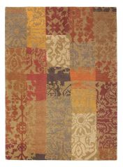 Wollen vloerkleed Yara Patchwork 194003 - Brink & Campman