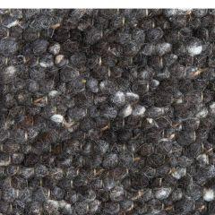 Wollen vloerkleed Marina 83 Zwart - Brinker
