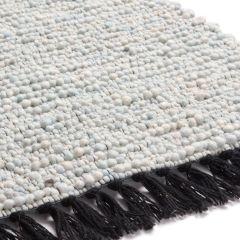 Wollen vloerkleed Lyon 151 Lichtblauw - Brinker
