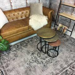 Vintage vloerkleed Antraciet - Dae