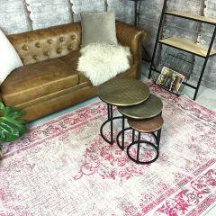 Vintage vloerkleed Roze - Dae