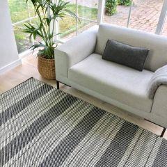 Wollen vloerkleed Zwart/Wit - Airbag