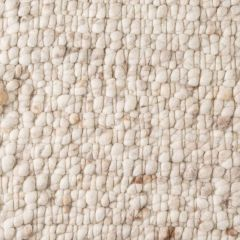 Wollen Vloerkleed Wit Beige Boulder 001 - Perletta