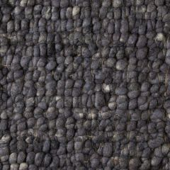 Wollen Vloerkleed Antraciet Blauw Boulder 034 - Perletta