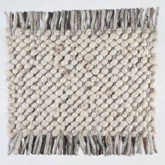 Wollen tapijt Wit Beige Garno 001 - Perletta