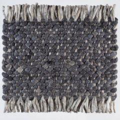 Wollen tapijt Antraciet Blauw Garno 034 - Perletta