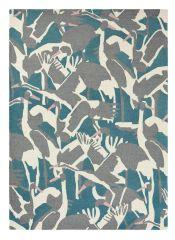 Wollen Vloerkleed Cranes Petrol 57008 - Ted Baker