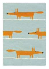 Wollen Vloerkleed Mr. Fox Aqua 25308 - Scion