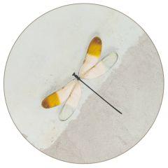 Modern Vloerkleed Rond Dragonfly Blauw - Desso