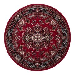 Rond Vintage vloerkleed Nain Perzisch Rood