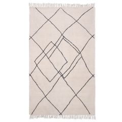 HKLiving handwoven zigzag rug black/white (150x240)