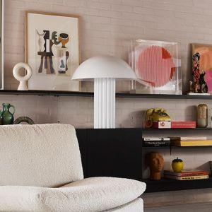 HKLiving tafellamp cupola wit acrylglas 56x56x61,3cm