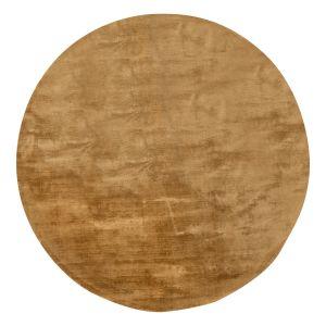 Rond Vloerkleed Viscose Silk Goud