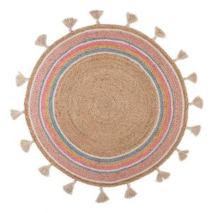 Kinder vloerkleed Kidsdepot Smile Roze/Multi 120