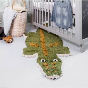 Kinder vloerkleed Kidsdepot Chris Croco Groen 80x200