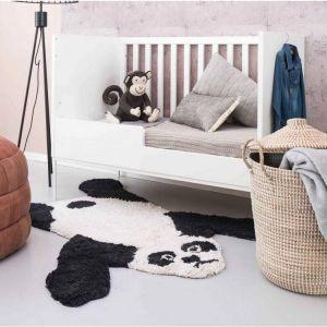 Kinder vloerkleed Kidsdepot Peter Panda Wit/Zwart 110x140
