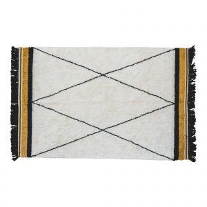 Kindervloerkleed Etnic ocher  - met rand - 120x170 - Tapis Petit