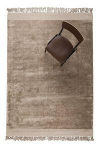 Vloerkleed blink sand/bruin velvet - zuiver-170 x 240 cm - (m)