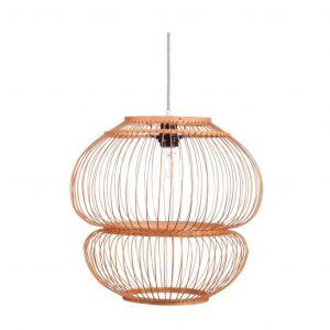 Kidsdepot Bubble hanglamp bamboe naturel dia35cm H35cm