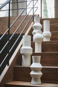 HK Living speckled clay vase angular M