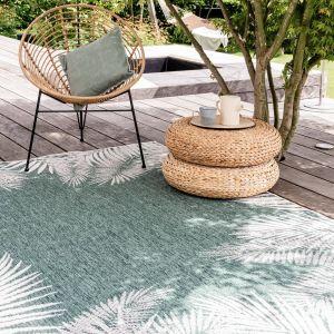 Buiten vloerkleed Leaf - Groen -  dubbelzijdig - EVA Interior