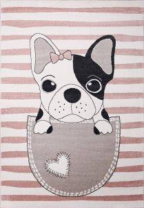 Kindervloerkleed Roze kinderkamer - Hond