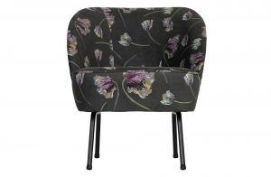 Bepurehome Vogue fauteuil fluweel rococo aloe