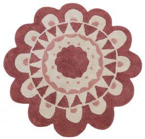 Kindervloerkleed Flower  - Bloem - 120 rond - Tapis Petit