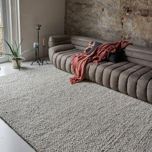 Wollen vloerkleed Bergamo 11 Beige - Interieur05