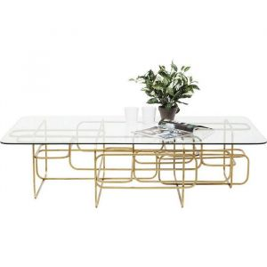 Kare Design Coffee Table Meander Gold 140x80cm