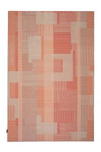 Desso Vloerkleed  Colour & Structure Block Rood-Terra 4403 Rechthoek - 200 x 300 cm