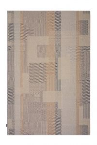 Desso Vloerkleed  Colour & Structure Block  Warmgrijs 9106 Rechthoek - 200 x 300 cm