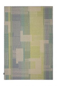 Desso Vloerkleed  Colour & Structure Block  Groen 7863 Rechthoek - 200 x 300 cm