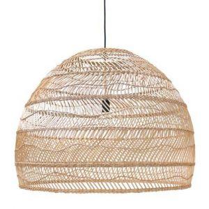 hk living wicker hanging lamp ball natural L