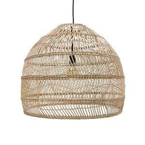 hk living wicker hanging lamp ball natural M