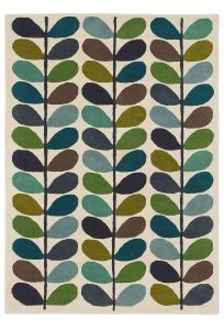 Vloerkleed wol Multi Stem Kingfisher 059507 Orla Kiely