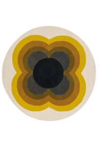 Vloerkleed wol Rond Sunflower yellow 060006 Orla Kiely