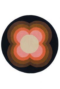 Vloerkleed wol Rond Sunflower Pink 060005 Orla Kiely
