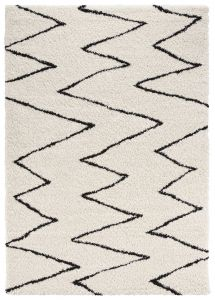 Mint Rugs Allure Cream, Black 104022